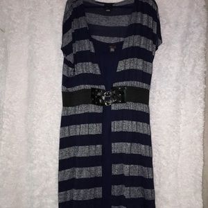 Torrid Striped Belted Sweater Cardigan Dress Sz 2
